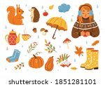Autumn Cozy Vector Illustration ...