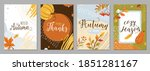 autumn posters set vector... | Shutterstock .eps vector #1851281167