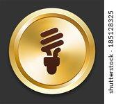 fluorescent light bulb icons on ... | Shutterstock .eps vector #185128325