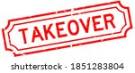 grunge red takeover word rubber ... | Shutterstock .eps vector #1851283804