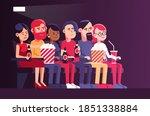 people in cinema watching a...   Shutterstock .eps vector #1851338884