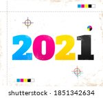 Vector Vintage Poster With 2021 ...
