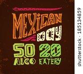 mexican restaurant discount... | Shutterstock .eps vector #185134859