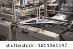 Small photo of Shrink film wraping machine in food industry