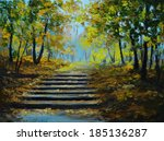 Oil Painting   Autumn Forest