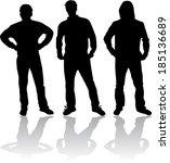 men silhouettes   Shutterstock .eps vector #185136689