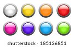 set of color rounded glass... | Shutterstock . vector #185136851
