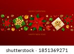 Holiday Banner With Christmas...