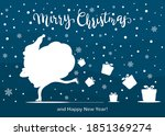 blue christmas background with...   Shutterstock .eps vector #1851369274