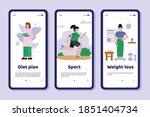 mobile app interface on phone... | Shutterstock .eps vector #1851404734