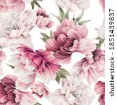 seamless floral pattern with... | Shutterstock . vector #1851439837