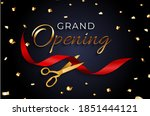 grand opening card with ribbon... | Shutterstock .eps vector #1851444121