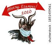 Postcard Merry Krampus. Krampu...