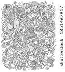 baby hand drawn vector doodles... | Shutterstock .eps vector #1851467917