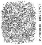 cartoon vector doodles space... | Shutterstock .eps vector #1851467974