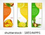 natural organic tropical fruits ... | Shutterstock .eps vector #185146991