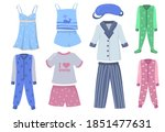 pajamas for kids and adults set.... | Shutterstock .eps vector #1851477631