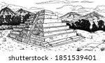 Temple Pyramid In Talud Tablero ...