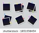 blank instant photo frame set... | Shutterstock .eps vector #1851558454