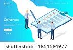 contract.businessmen conduct... | Shutterstock .eps vector #1851584977