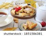 Austrian Cuisine.  Torn Pancake ...