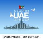 49 uae national day festive... | Shutterstock .eps vector #1851594334