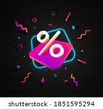 percent sign 3d modern design... | Shutterstock .eps vector #1851595294