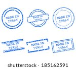 made in italy stamps | Shutterstock .eps vector #185162591