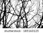 tree branches . vector | Shutterstock .eps vector #185163125