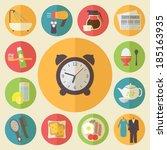 morning time  morning... | Shutterstock .eps vector #185163935
