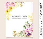 romantic wedding invitation... | Shutterstock .eps vector #1851692047