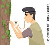 illustration of a teenage guy... | Shutterstock .eps vector #1851710854
