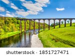 River Railway Bridge Viaduct...