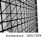 abstract wire modern building | Shutterstock . vector #18517399