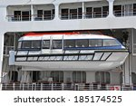 safety lifeboat on deck of a...   Shutterstock . vector #185174525