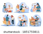 physiotherapy for people with...   Shutterstock .eps vector #1851753811