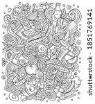 cartoon vector doodles diet... | Shutterstock .eps vector #1851769141