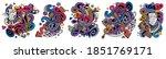 music cartoon vector doodle... | Shutterstock .eps vector #1851769171