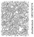 sports hand drawn vector... | Shutterstock .eps vector #1851769174