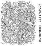 cartoon vector doodles japan... | Shutterstock .eps vector #1851769207
