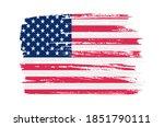 grunge american fllag.vintage... | Shutterstock .eps vector #1851790111