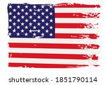 grunge american fllag.vintage... | Shutterstock .eps vector #1851790114