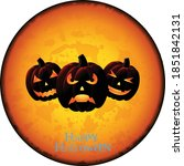 halloween pumpkin on white... | Shutterstock .eps vector #1851842131