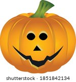 halloween pumpkin on white... | Shutterstock .eps vector #1851842134