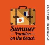 summer design over orange... | Shutterstock .eps vector #185184785