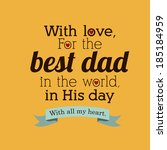 fathers day design over yellow... | Shutterstock .eps vector #185184959