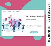 vaccination covid 19 landing...   Shutterstock .eps vector #1851852184
