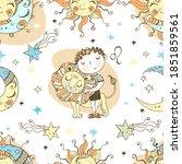 a fun seamless pattern for kids.... | Shutterstock .eps vector #1851859561