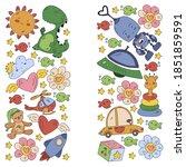 kindergarten  toys vector...   Shutterstock .eps vector #1851859591