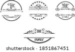 family name monogram bundle is... | Shutterstock .eps vector #1851867451